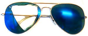 ray ban gläser blau