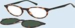 - Brillen mit Sonnenclip