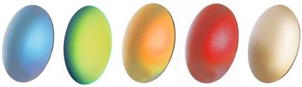 Kunststoff-Sonnengläser mit Verspiegelung / ohne Stärke