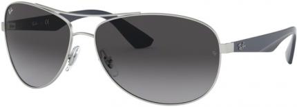 RAY-BAN RB 3526 Sonnenbrille matt silbern-blau