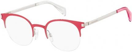Tommy Hilfiger TH 1382 Tragrandbrille, pink-silbern