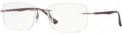 RAY-BAN RB 8725 LightRay randlose Titan-Brille braun