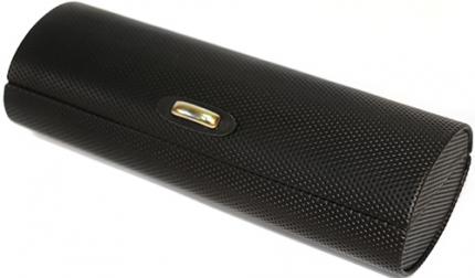 ovales Brillenetui, schwarz, Gr. M