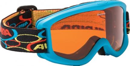 ALPINA Kinder-Skibrille CARVY 2.0 SH, hellblau
