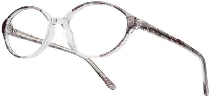 START UP BI 5447 Kunststoffbrille, lila-transparent, Gr. 54