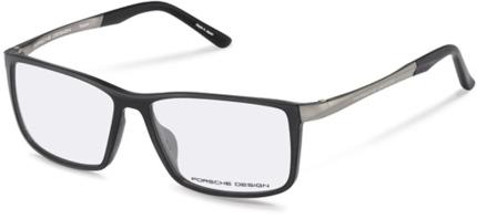 PORSCHE DESIGN P8328 Kunststoffbrille mit Titanium Bügel grau