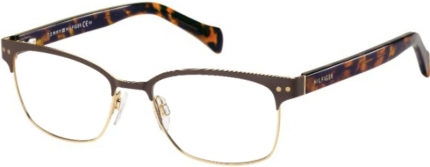 Tommy Hilfiger TH 1306 Brille gold-braun