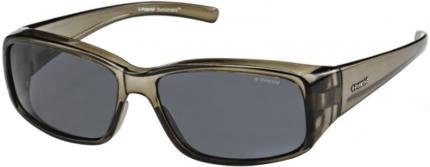 Polaroid Sonnenbrille P 8306 Überbrille polarized grün transparent