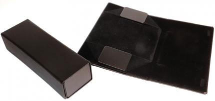 Brillenetui Faltetui Magnetverschluß schwarz