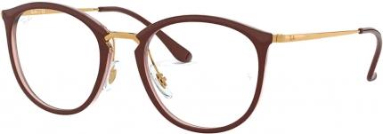 RAY-BAN RB 7140 Kunststoffbrille braun-gold