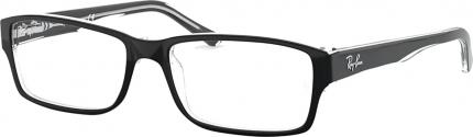 RAY-BAN RB 5169 Kunststoffbrille schwarz-transparent