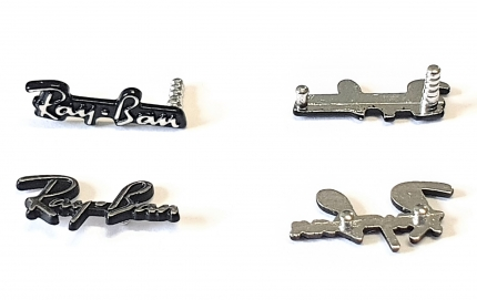 Original RAY-BAN Emblem (Logo, Schriftzug) Paar