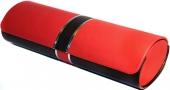 Brillenetui JENNIFER oval, rot-schwarz
