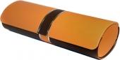 Brillenetui JENNIFER oval, orange-braun