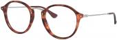 RAY-BAN RB 2447-V ROUND FLECK Brille, rotbraun havanna