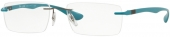 RAY-BAN RB 8724 Liteforce randlose Titan Brille, türkis