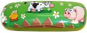 Brillenetui Kuh, Schwein, Hühner für Kinder