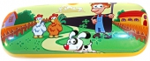 Brillenetui Bauernhof, Hühner, Hund für Kinder