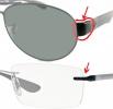 RAY-BAN Ersatz-Backen Paar für Brille / Sonnenbrille