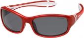 Polaroid PLD 8000/S Kindersonnenbrille, Sportbrille, polarisiert, rot-weiß