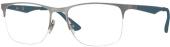 RAY-BAN RB 6362 Tragrandbrille, silbern-blau