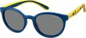 Polaroid PLD 8014/S Kindersonnenbrille Sportbrille polarisiert blau-gelb