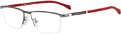 BOSS - Hugo Boss 1104/F Tragrandbrille grau-rot