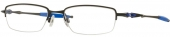 OAKLEY OX 3129 COVERDRIVE Tragrandbrille, matt schwarz, blau