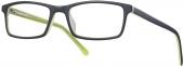 START UP premium BI 6212 Kunststoffbrille, matt schwarz-gelb