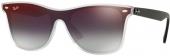 RAY-BAN RB 4440N  Sonnenbrille, matt schwarz transparent