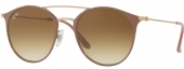 RAY-BAN RB 3546 Doppelsteg Sonnenbrille, beige-roségold