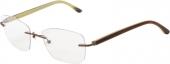 AUGENBLICK randlose Brille PHILINE Titan, matt kupferbraun-beige