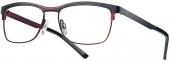 LOOK & FEEL Brille BI 8128 matt schwarz-rot