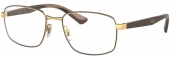 RAY-BAN RB 6423 Brille braun-gold