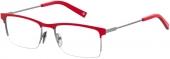 Polaroid PLD D350 Tragrandbrille rot-silbern