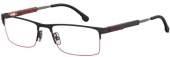 CARRERA 8835 Tragrandbrille schwarz rot