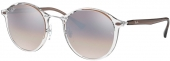 RAY-BAN RB 4242 ROUND II LIGHT RAY Sonnenbrille transparent-braun