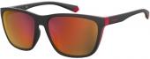 Polaroid PLD 7034/G/S Sonnenbrille polarized matt schwarz-rot