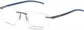 PORSCHE DESIGN P8341 randlose Brille Carbon-blau