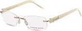 PORSCHE DESIGN P8209 randlose Brille gold-creme