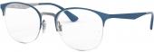 RAY-BAN RB 6422 Tragrandbrille blau-silbern