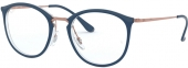 RAY-BAN RB 7140 Kunststoffbrille blau-kupfer