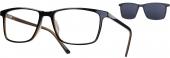 LOOK & FEEL BI 6239 Brille mit Sonnenclip braun-schwarz