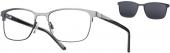 LOOK & FEEL BI 7962 Brille mit Sonnenclip schwarz-anthrazit