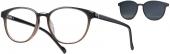 LOOK & FEEL BI 6237 Brille mit Sonnenclip braun