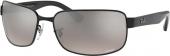 RAY-BAN RB 3566-CH polarisierte Sonnenbrille schwarz