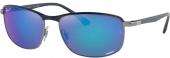 RAY-BAN RB 3671-CH polarisierte Sonnenbrille blau
