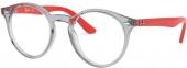 RAY-BAN RB 1594 Jugend Kunststoffbrille grau-rot