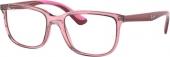RAY-BAN RB 1605 Jugend Kunststoffbrille transparent-pink