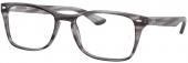 RAY-BAN RB 5228M Kunststoffbrille grau-gestreift